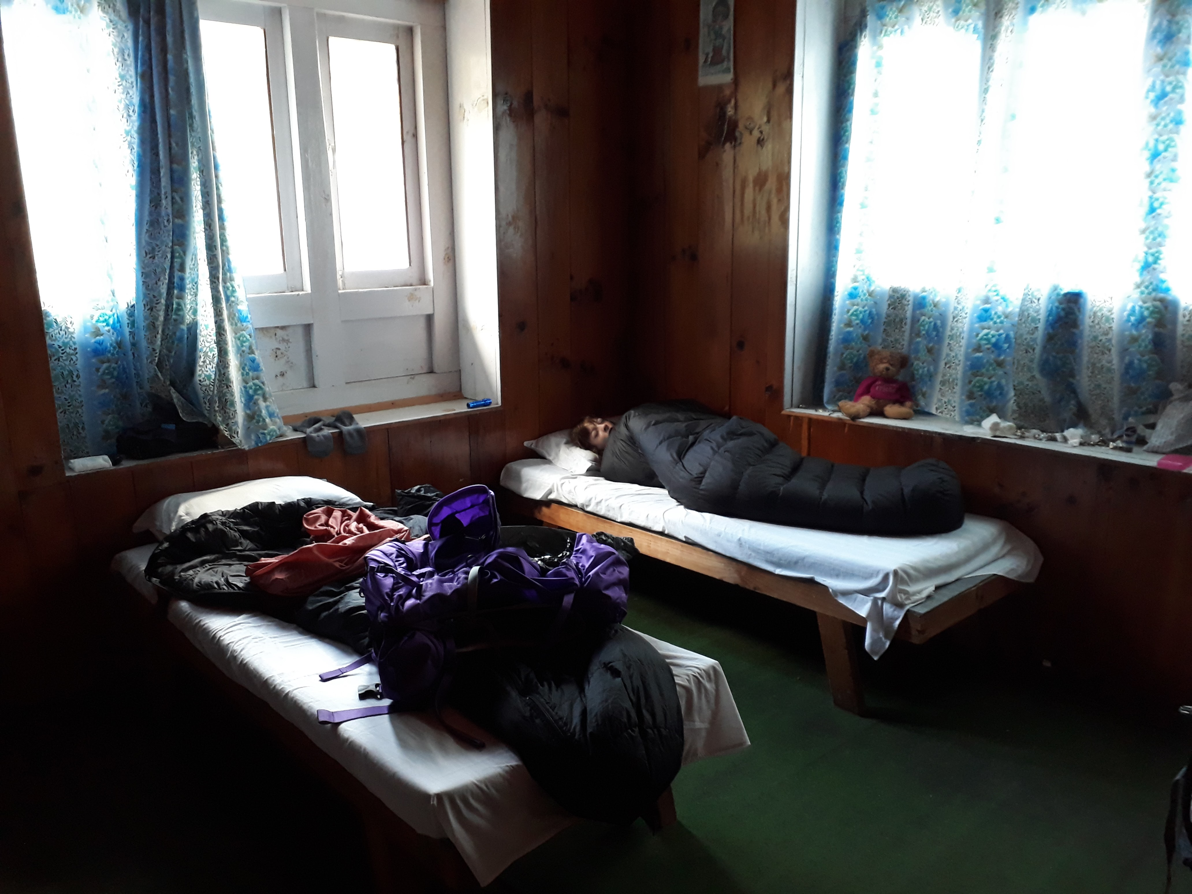 Everest base camp on a budget - Typical Lodge Room