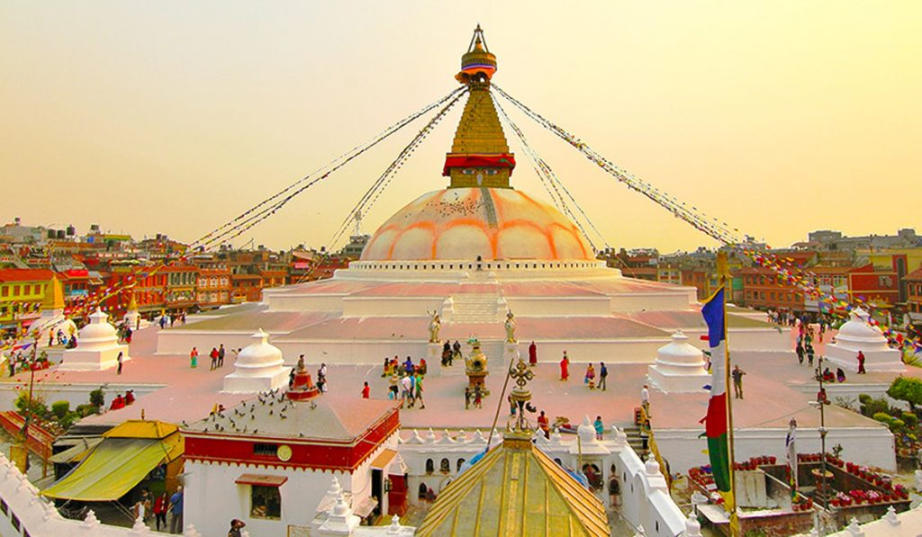 Nepal family travel - Boudhanath Stupa