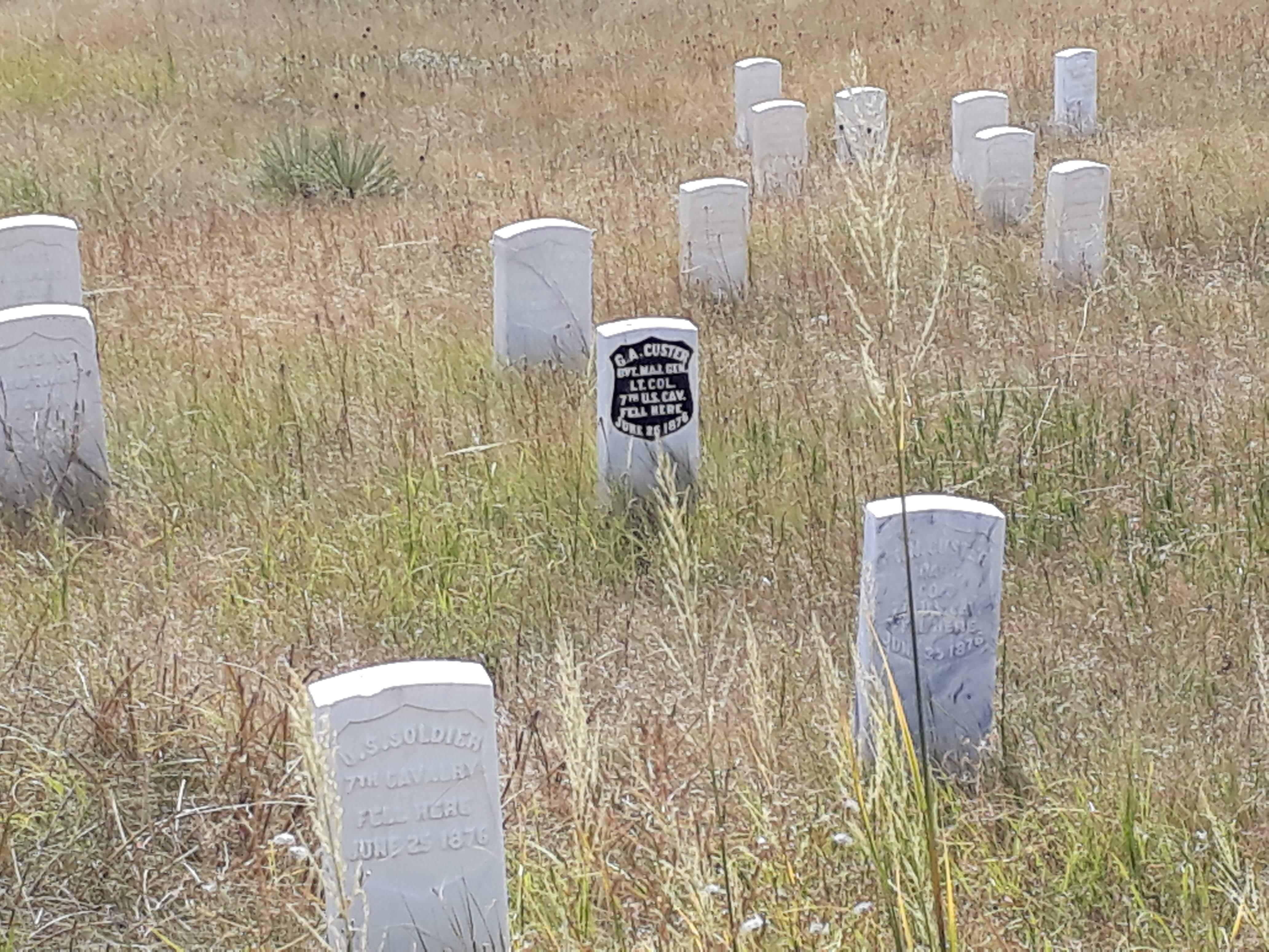 Little Bighorn Battlefield - Marker Stones