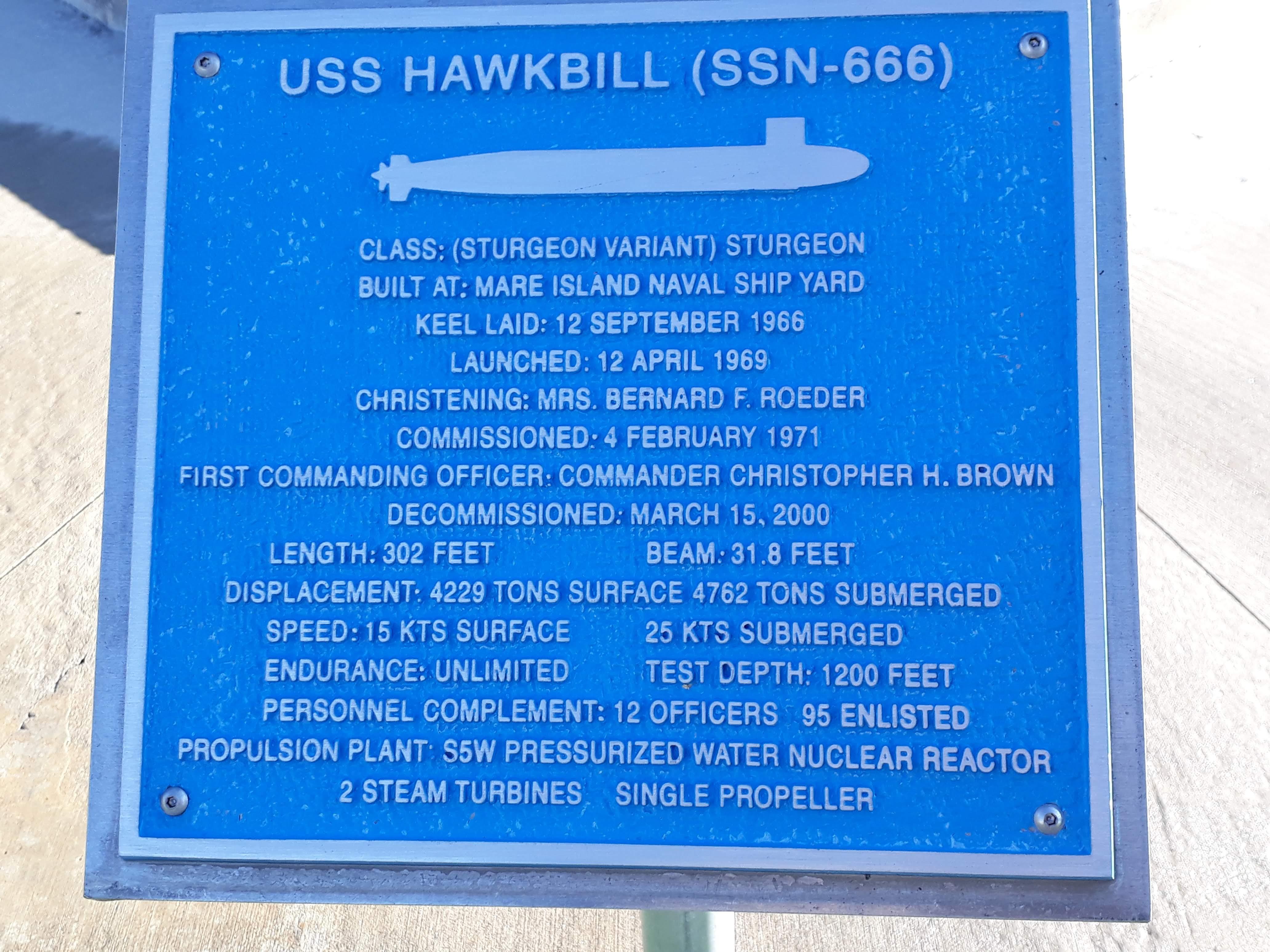 Arco - Idaho - USS Hawkbill