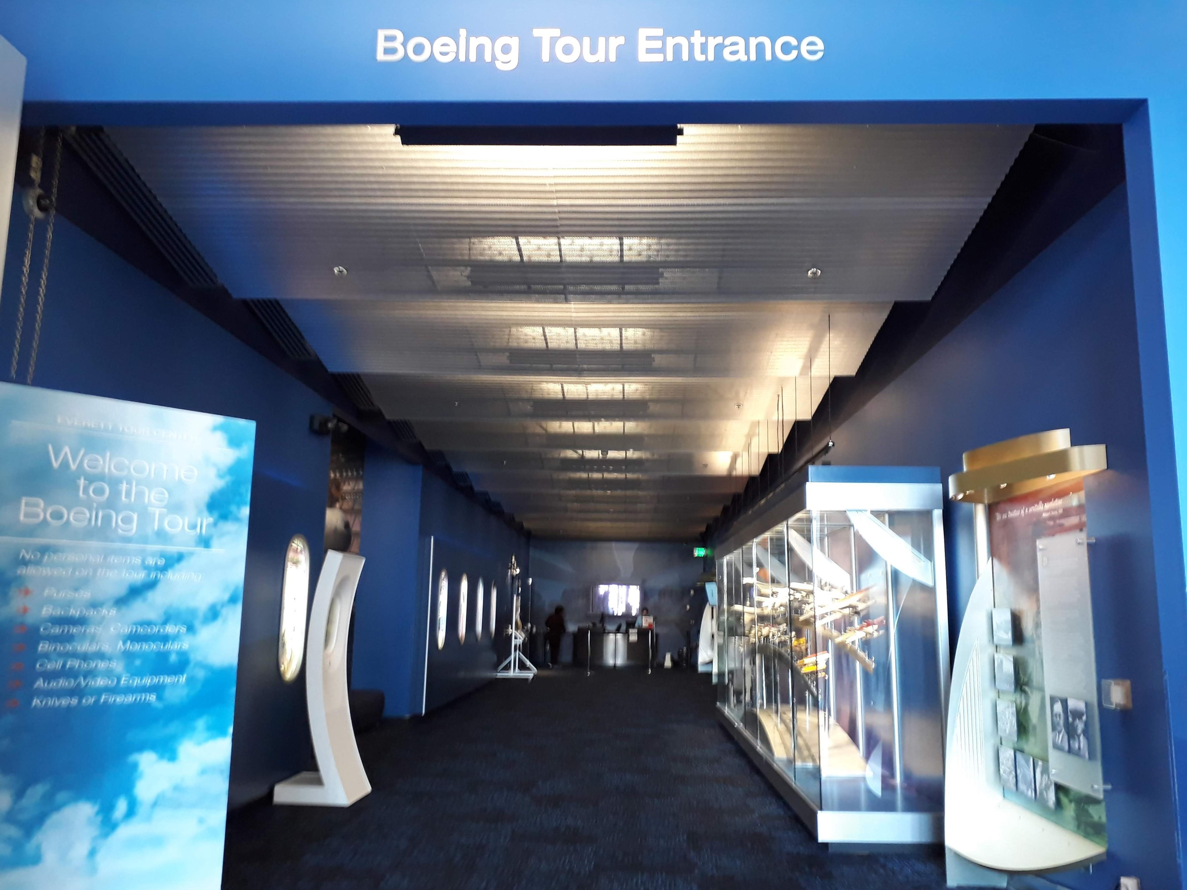 Boeing factory tour Entrance