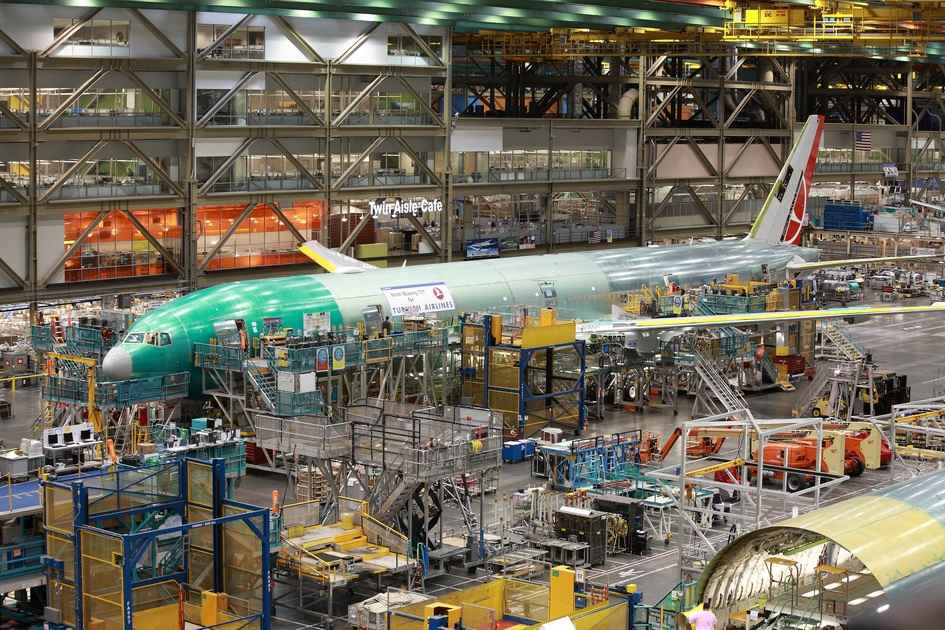Boeing factory tour - 777 Assembly Line