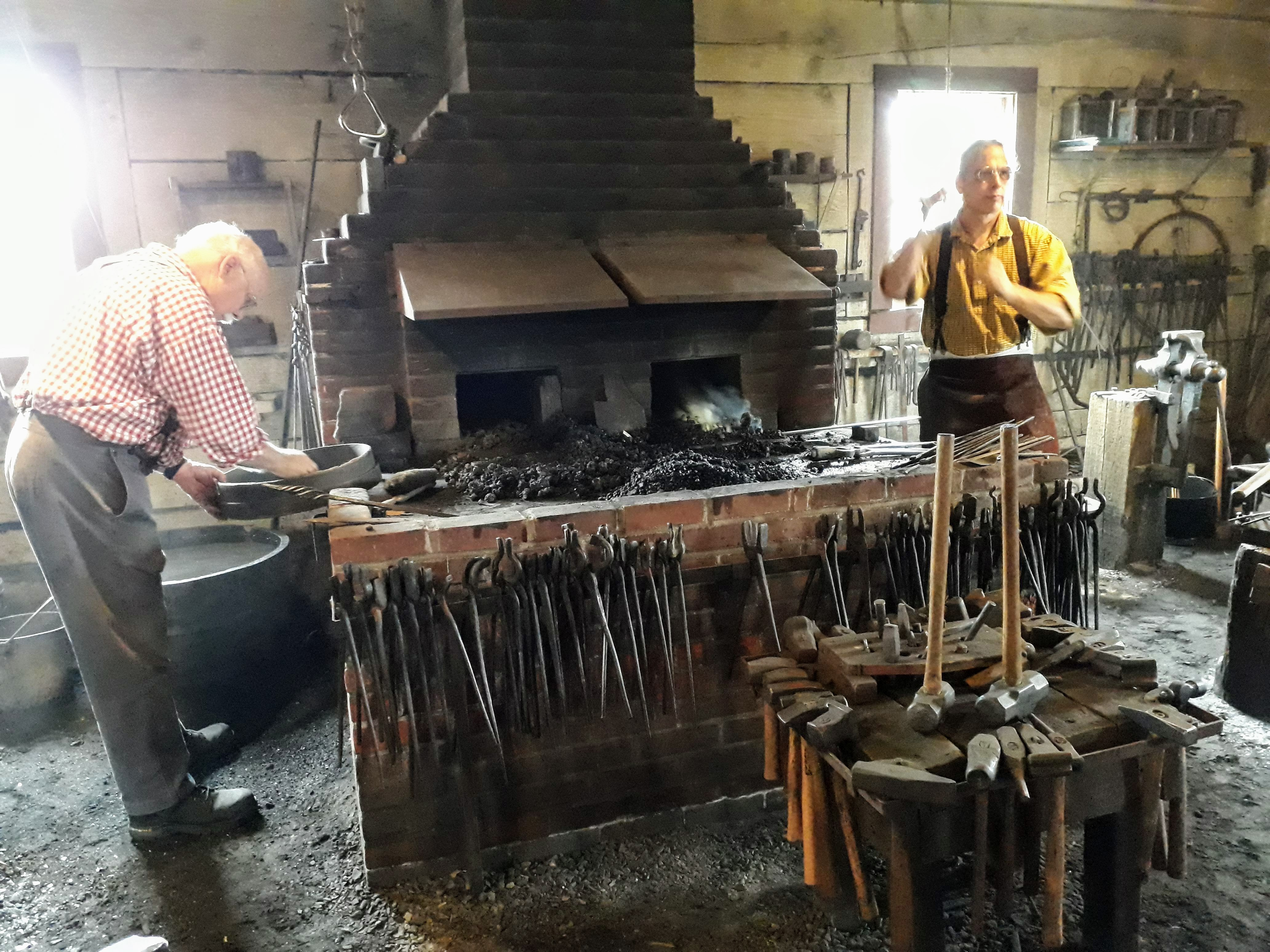 visiting Fort Vancouver - The Blacksmiths Shop